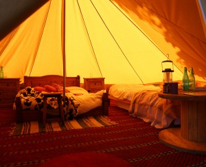 West Lexham bell tent